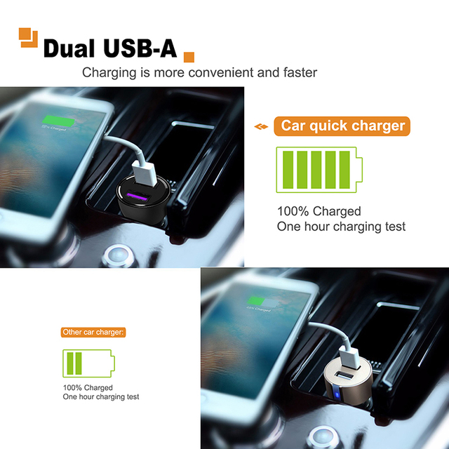 Smart Car Charger with Two USB Ports
