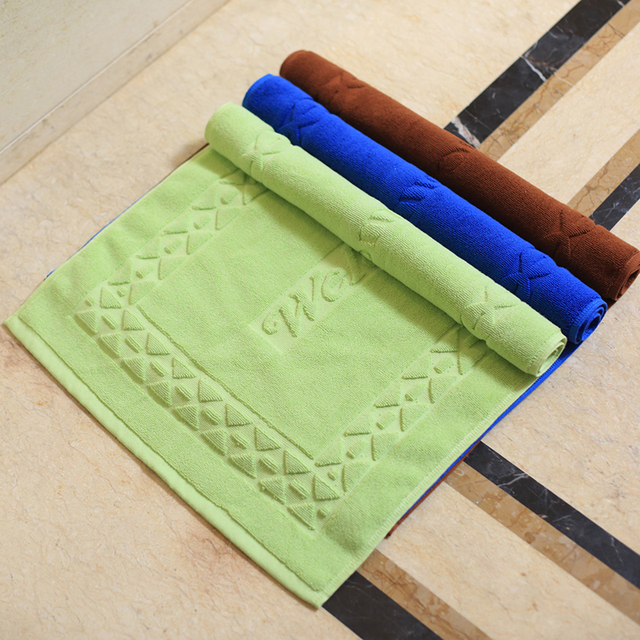 Hotel Towel Cotton Bath Thicker Bathroom Floor Mats Non Slip Doormat Mat