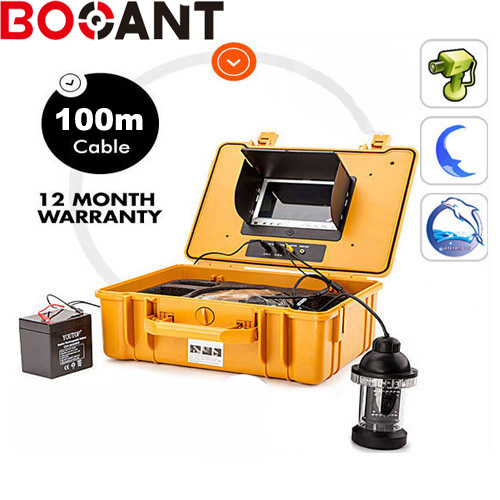 Original HD 100M 1000TVL Fish Finder Underwater Fishing 7 Video Camera Monitor Infrared IR Lamp Bright white LED Waterproof 7 lcd monitor hd 1000tvl waterproof 100m cable rechargeable battery fish finder underwater fishing video camera with led
