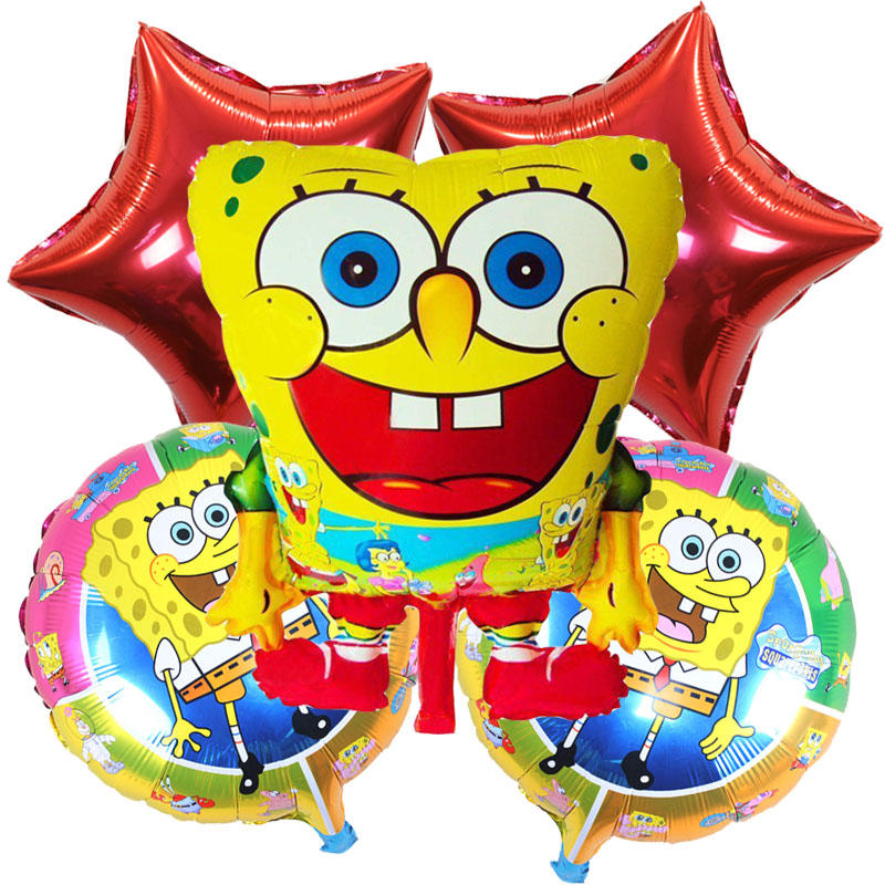5pcs/lot SpongeBob foil balloons Patrick Star helium balloon globos inflatable t