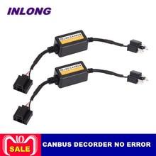 INLONG ошибок Canbus декодер для светодио дный фар для автомобиля внедорожник светодио дный шарик автомобиля Противотуманные огни может-Bus H4 H7 H8 H11 H13 9005/HB3 9006/HB4