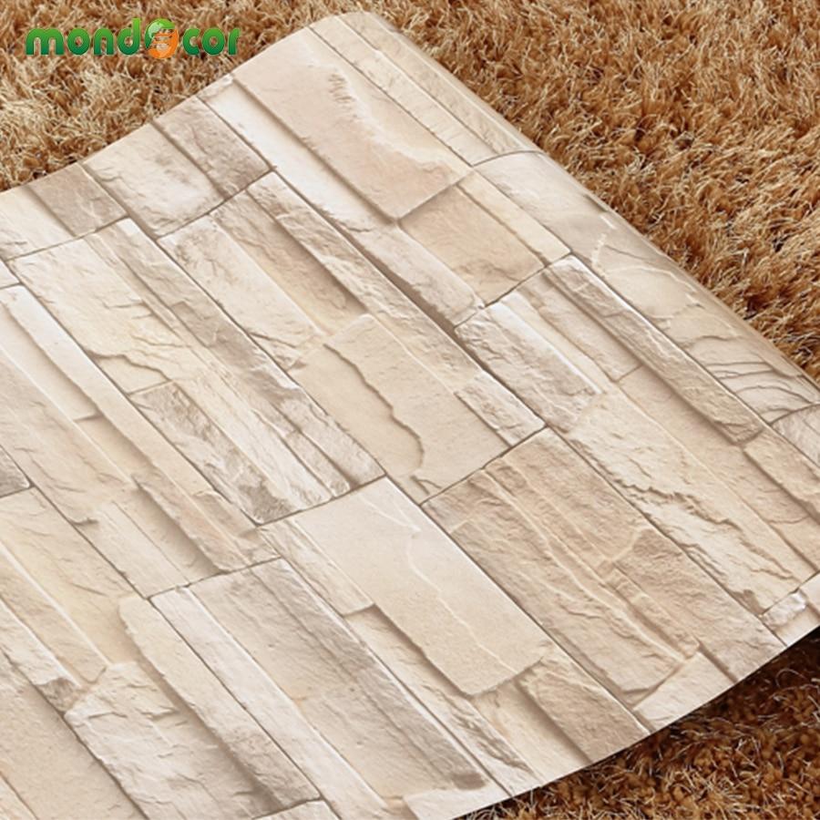 5M/10M Living Room Kitchen Bathroom Waterproof Wall Sticker Home Decor Removable Vinyl PVC Brick Stone Self Adhesive Wallpaper(China)
