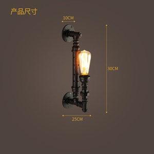 Американский Сельский стиль промышленный настенный светильник Лофт настенный светильник креативные водопроводные трубы Ретро светильник...
