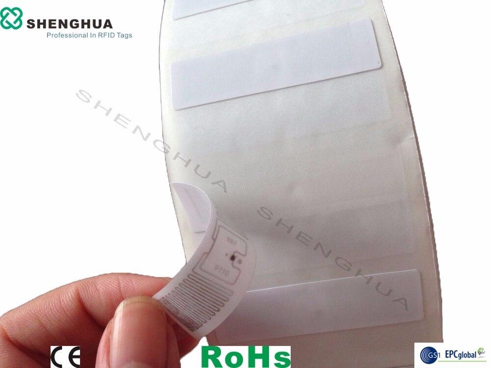 100pcs/lot UHF RFID Sticker Tag UHF RFID Labels Long Range Tracking Asset Tags Printable White Paper Programmable