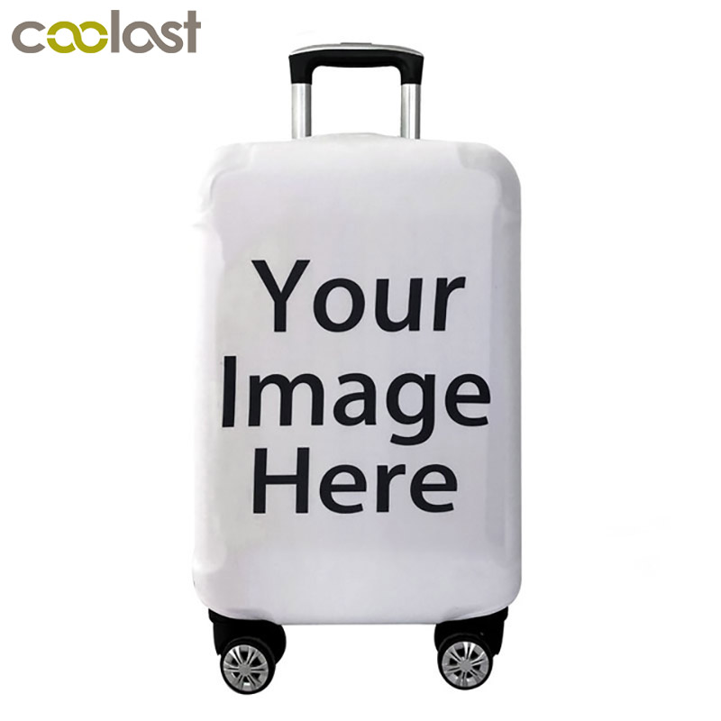Customize Your Image / Name / Logo Luggage Cover Suitcase Protective Covers Elastic Anti-dust Case Cover For 18-28 Inch Trolley
