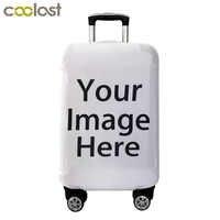 Personnalisez votre Image/nom/Logo housse de bagage housse de protection pour valise housse de protection élastique Anti-poussière pour chariot de 18-28 pouces