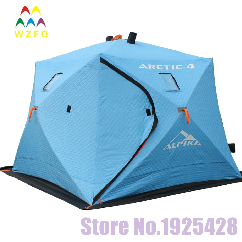 5-6 persons automatic pop up winter Ice fishing tent heat preservation 600 D oxford thicken cotton beach outdoor camping tent