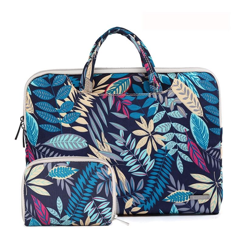 Colorful Leaves Canvas Laptop Bag Notebook Bag Case for Chuwi LapBook14.1 inch Tablet PC Women Men Handbag