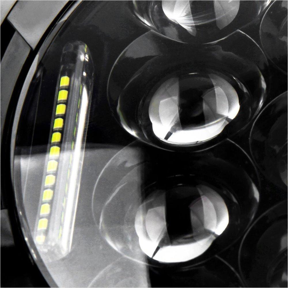 JIN Wrangler JK OffRoad 4x4 üçün DRL Qara mənzil ilə 7INCH - Avtomobil işıqları - Fotoqrafiya 2