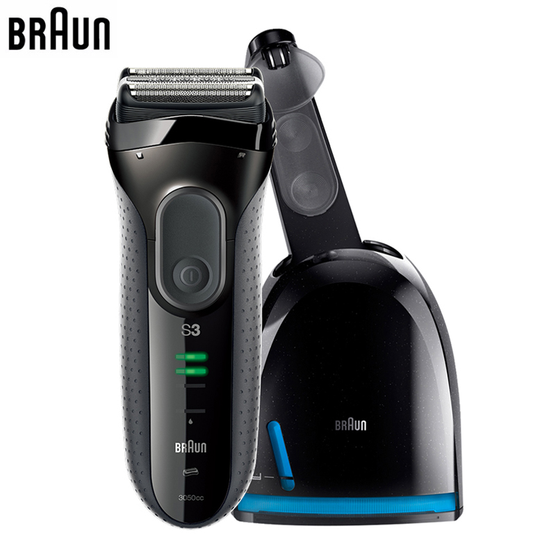 Braun Series 3 Electric Razor 3050CC Electric Shaver for Men Washable Shaving Hair braun series 3 electric shaver 3080s electric razor blades shaving machine rechargeable electric shaver for men washable