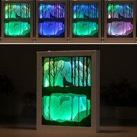 Light And Shadow Art Kid Cartoon Light 3D Carved Wall Lamp Novelty Paper Cutting Lights LED