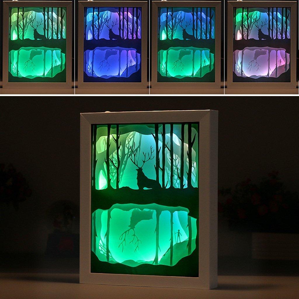 Luce e ombra di arte Del Capretto Del Fumetto luce 3D intagliato lampada da parete Della Novità di Carta di taglio luci LED illuminazione notturna Complementi Arredo Casa IY804017 12
