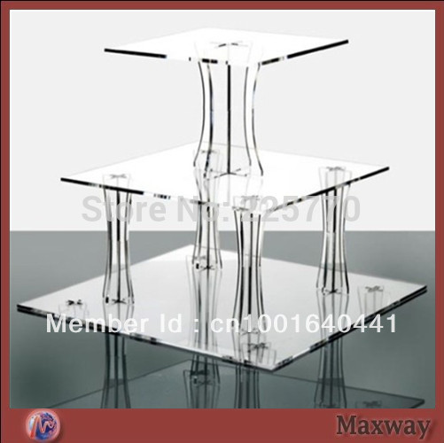 Acrylic Square 3 Tiers Assembled Cupcake Stand Square Cake Stand Wedding Cupcake Stand Birthday Cupcake Stand For Party