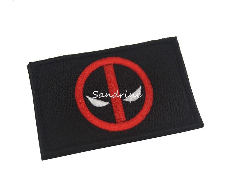 Marvel Deadpool Maximum Effort Tactical Morale Hook Patch Embroidered Badge Red