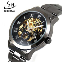 2013 Winner Brands Stainless Steel Mens Skeleton Automatic Mechanical Wrist Watch With Tag Free Shipping