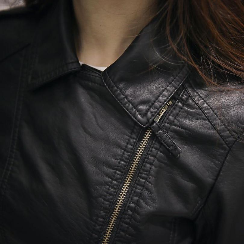 23 51 20 De Reduction Rose Veste En Cuir Femmes 2019 Printemps Vestes Femmes Faux Biker Moto En Cuir Manteaux Ledermantel Ceinture Perfecto