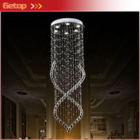 Modern Crystal Chandelier Light Fixture Duplex Stairs LED Crystal Lamp For Ceiling Villa Hall Chandelier Droplight