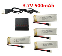 For V966 V977 V930 Q282 RC helicopter 3.7V 500mah Li-po battery*4pcs+4 in 1 charger box free shipping