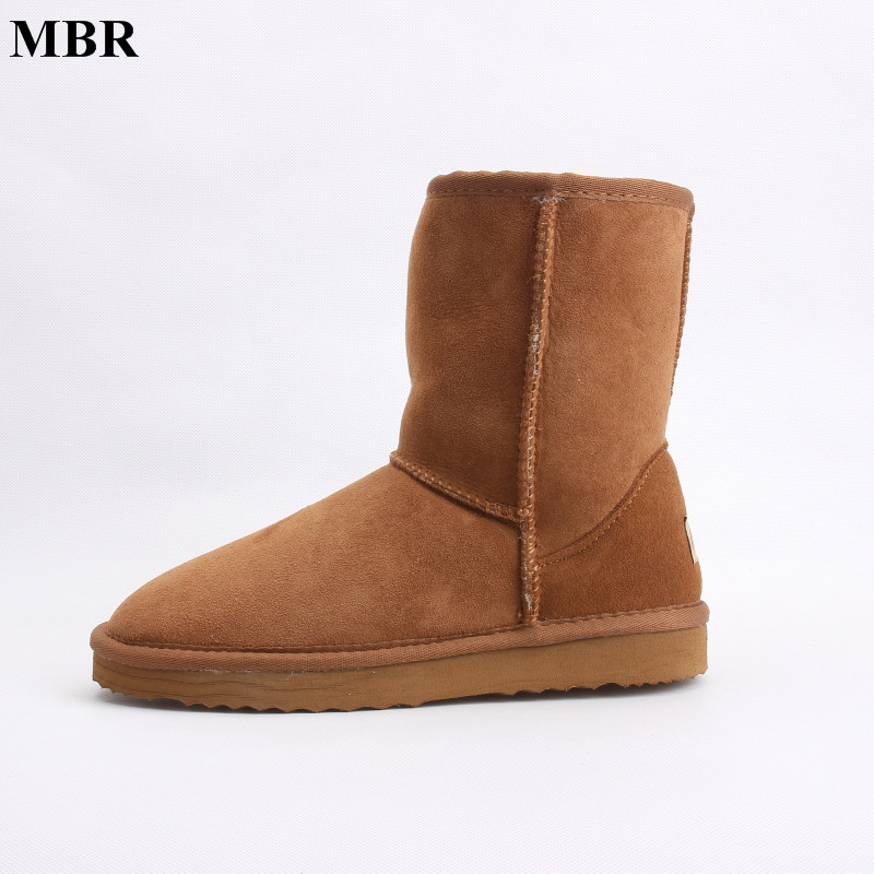 MBR sheepskin leather suede winter UG snow boots for women real sheep fur wool lined winter shoes high quality brown black 35-44 free shipping classic natural fur real wool genuine sheepskin leather snow boots for women winter shoes high quality page 2