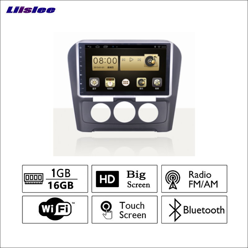 Liislee For Citroen Sega C4 Car Radio GPS Audio Video Multimedia Player WiIFi DVR Navigation Android System No CD DVD