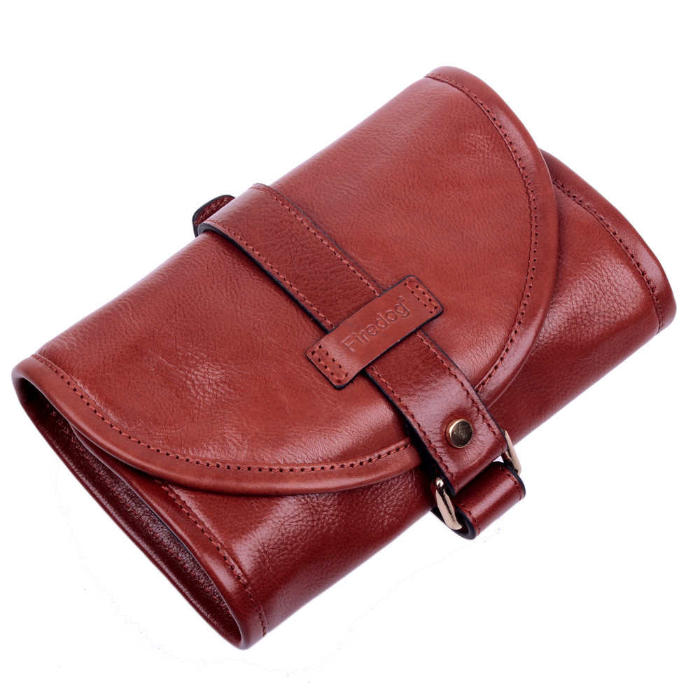 FIREDOG NEW COLOR Genuine leather tobacco pipe pouches Two tobacco pipe bag Tobacco tools Smoking accessories gifts-in Tobacco Pipes & Accessories from Home & Garden    1