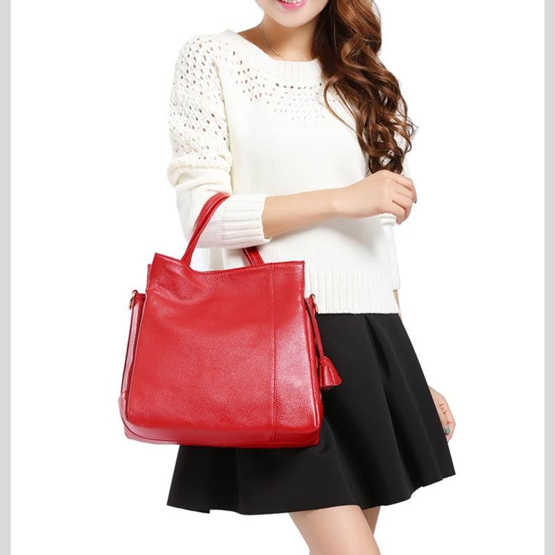 XIYUAN 2017 Fashion Women Red wine Messenger Bags GENUINE LEATHER Women's Handbag Women Bag Vintage Ladies Tote Crossbody bags