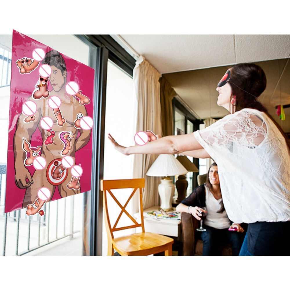 OurWarm девичник Вечерние игры девичник Вечеринка девушка ночь невеста быть вечерние принадлежности 80x55 см бумажный плакат с 6 наклейками