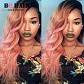 BQHAIR 8А Реми Розовое Золото Два Тона 3 Bundle Предложения малайзийский Девы Волос Объемной Волны Ombre Волосы, Удивительные Волосы Компания парик