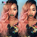 BQHAIR 8A Remy Rose Gold Two Tone  3 Bundle Deals Malaysian Virgin Hair Body Wave Ombre Hair  Amazing Hair Company Perruque