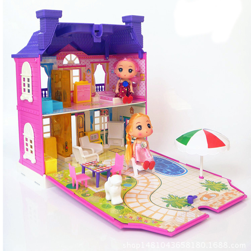 Doll House Tilbehør Møbler Diy Kit 3D Miniatyr Plastic Model Toy - Dukker og tilbehør - Bilde 2