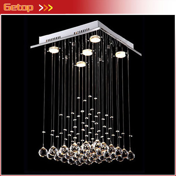 Modern Chandelier Rain Drop Lighting Lamp Dining Living Room Square Pyramid Crystal Light Hanging Wire Crystal Lamp Project modern crystal chandelier led hanging lighting european style glass chandeliers light for living dining room restaurant decor