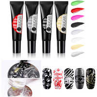 UR SUGAR 8ml Soak Off Stamping UV Gel Polish Colorful Red Gold Silver for Nail Art Stamping Plate Design Gel Varnish
