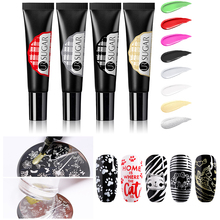 UR SUGAR 8ml Soak Off Stamping UV Gel Polish Colorful Red Gold Silver for Nail Art Plate Design Varnish