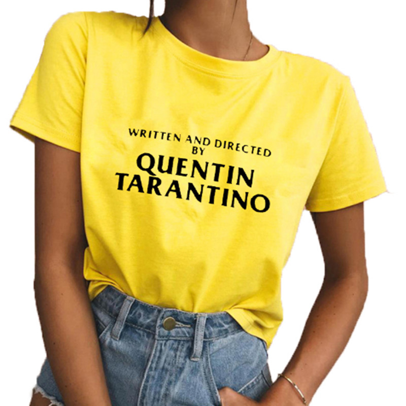 41d98d707 2018 WRITTEN AND DIRECTED BY QUENTIN TARANTINO Sexy Women T Shirt Slim  Round Neck Tee Tops Plus Size-in T-Shirts from Women's Clothing on  Aliexpress.com ...