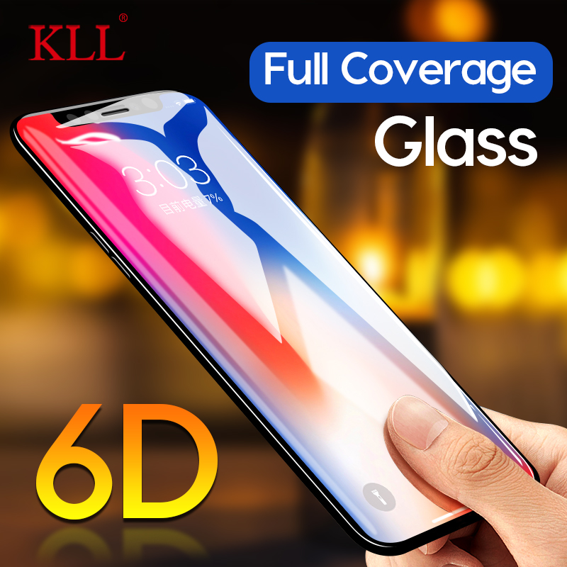6D Curved Edge Full Cover Tempered Glass For IPhone X XS MAX XR Screen Protector Film For IPhone 6 6s 7 8 Plus Protective Glass
