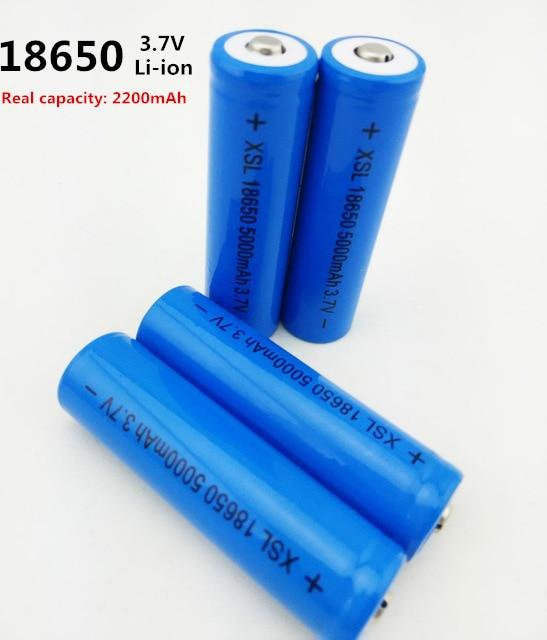 Haute qualité 5000 mAh 3.7 V 18650 pour batterie rechargeable li-ion NCR pour la capacité réelle de 2200 Mah