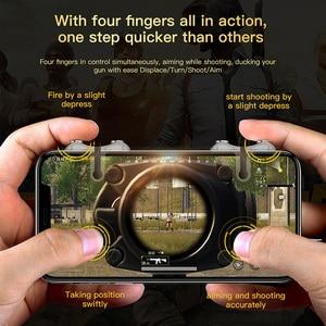 Image 2 - Baseus Handy Spiel Controller Für PUBG Gamepad Trigger Feuer Taste Ziel Schlüssel L1 R1 Shooter Joystick Für iPhone Android telefon