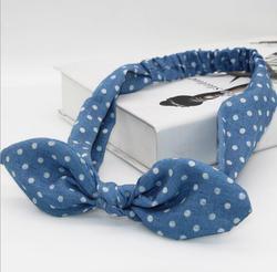 """Новое поступление для женщин в синий горошек hairbands Девушки Тонкий головной убор """"Фантазия"""" лук летние аксессуары для волос"""