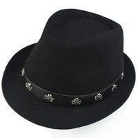 Korean skulls, black hats, Mao hats, jazz hats, men and women in winter, vintage English hats