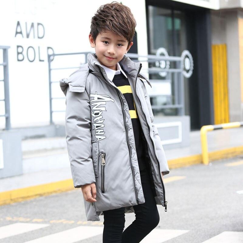 2017 New Kids Boys children jacket long coat in Korean children warm winter thickening