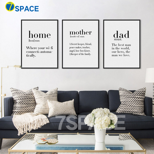 High Quality 7 Space Modern Decoration Study Vocabulary Definitions Quotes Posters  Canvas Painting Kids Room Decor Wall