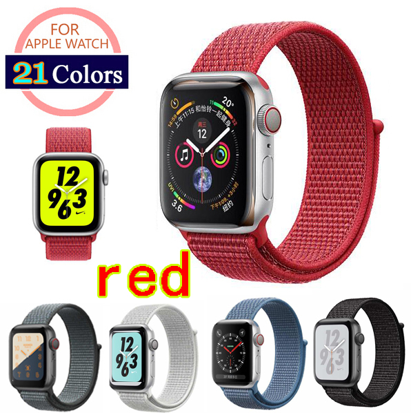 3a486aa82 For Apple Watch Band 38MM 42MM 40mm 44mm Nylon Soft Breathable Nylon  Replacement strap Sport Loop