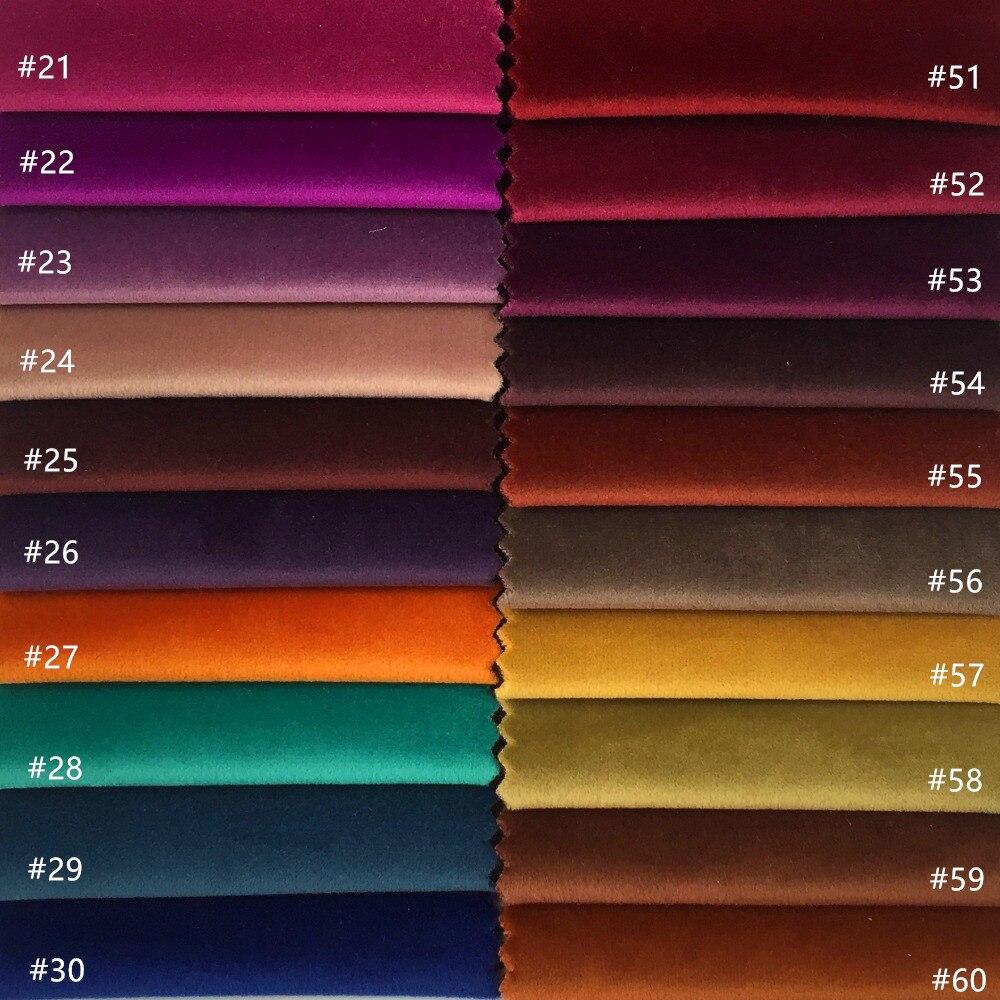 60 Warna Solid Polos Pewarna Kusam Kain Beludru Kursi Sofa Rumah