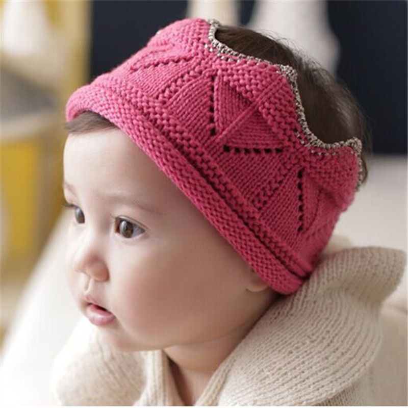 Baby Crown Knitting Crochet Costume Soft Adorable Clothes Newborns Photography Props Hat Cap newborn baby photography props infant knit crochet costume peacock photo prop costume headband hat clothes set baby shower gift