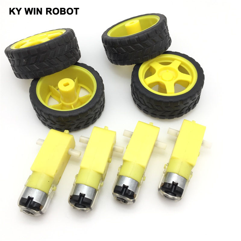free-shiping--4lot-package-deceleration-dc-motor-supporting-wheels-smart-car-chassis-motor-robot-car-wheels-for-font-b-arduino-b-font
