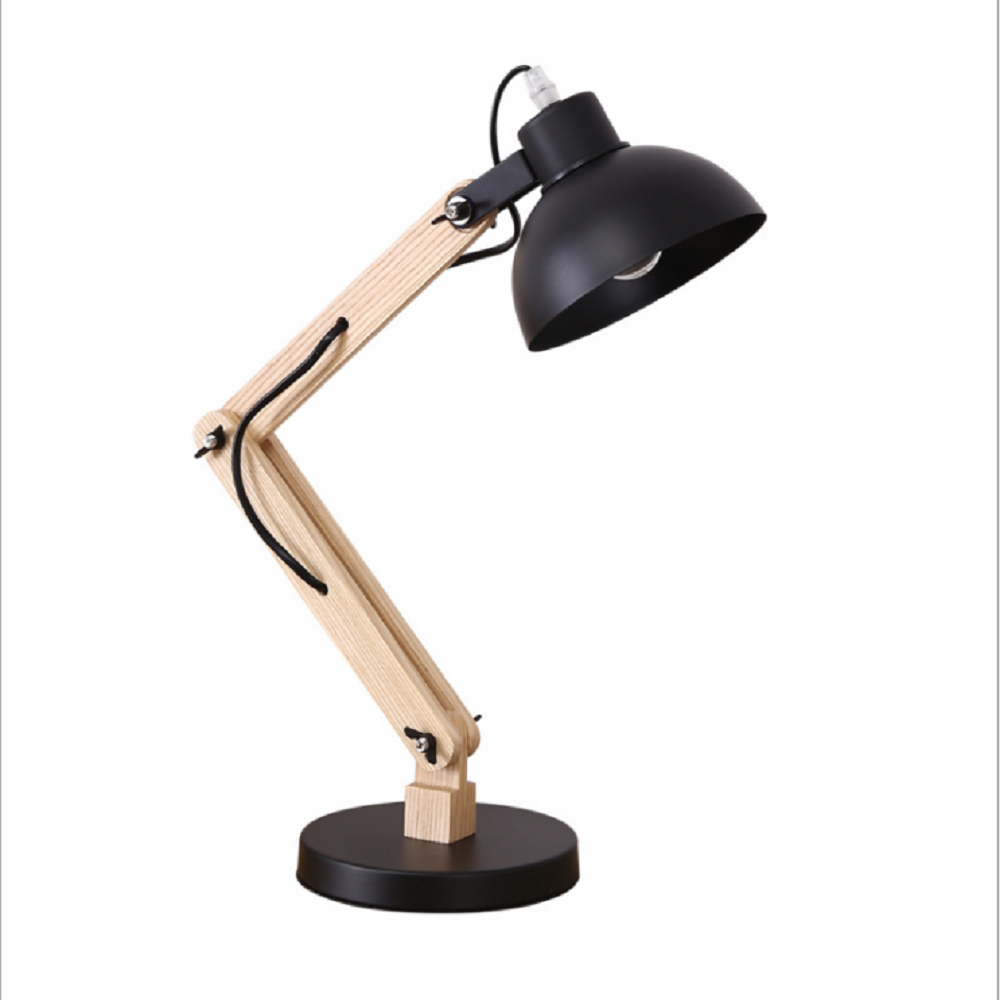 Desk Lamp Creative Table Lamp Table Light  with Adjustable Wooden Arm E27 Lamp Holder for Study Office Bedroom Living RoomDesk Lamp Creative Table Lamp Table Light  with Adjustable Wooden Arm E27 Lamp Holder for Study Office Bedroom Living Room
