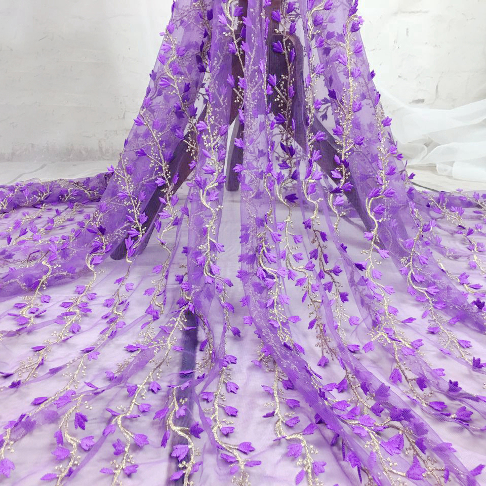 2yards 8 colors African Guipure Lace Fabric 2017 High Quality Gold Thread Embroidery Net Lace Fabric For Sewing Women's Dress