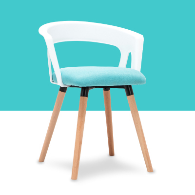 blue color bar chair Modern furniture plastic back wooden legs stool Factory office chair free shipping living room bench modern fabric upholstered rectangle living room ottoman stool with natural wooden legs home small bench wood foot stool chair