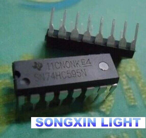 """500PCS 74HC595 MC74HC595AN SN74HC595N מח""""ש"""