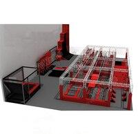 Novo design eco amigável comercial adulto indoor playground trampolim  crianças bounce trampolim park com curso ninja YLW BT180318|trampoline park|park trampolintrampoline trampoline -
